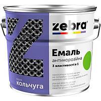 Эмаль Зебра 3 в 1 антикоррозионная 87 красно-коричневая 2 кг
