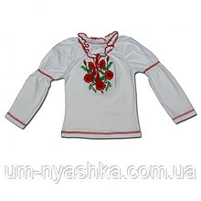"""Вышитая блуза для девочек """"Натали"""" 110-134"""