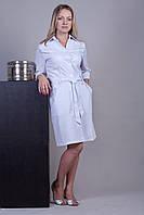 Халат медицинский женский однотонный с поясом