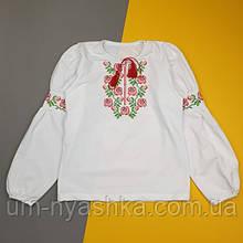 """Вышитая блуза для девочек """"Цветы"""" 122"""