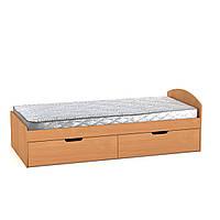 Кровать 90+2 Компанит (односпальная с ящиками)