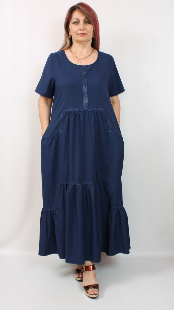 Турецкое летнее красное платье, 50-60