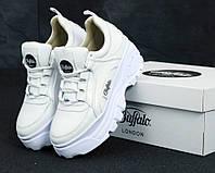 Кроссовки на платформе Buffalo белые  (ТОП реплика)