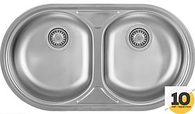 Мойка кухонная полированная Kernau KSS B 803 2B SMOOTH