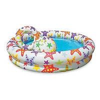 Детский надувной бассейн Intex 59460 Звезды с мячом и кругом 112х25см 134л