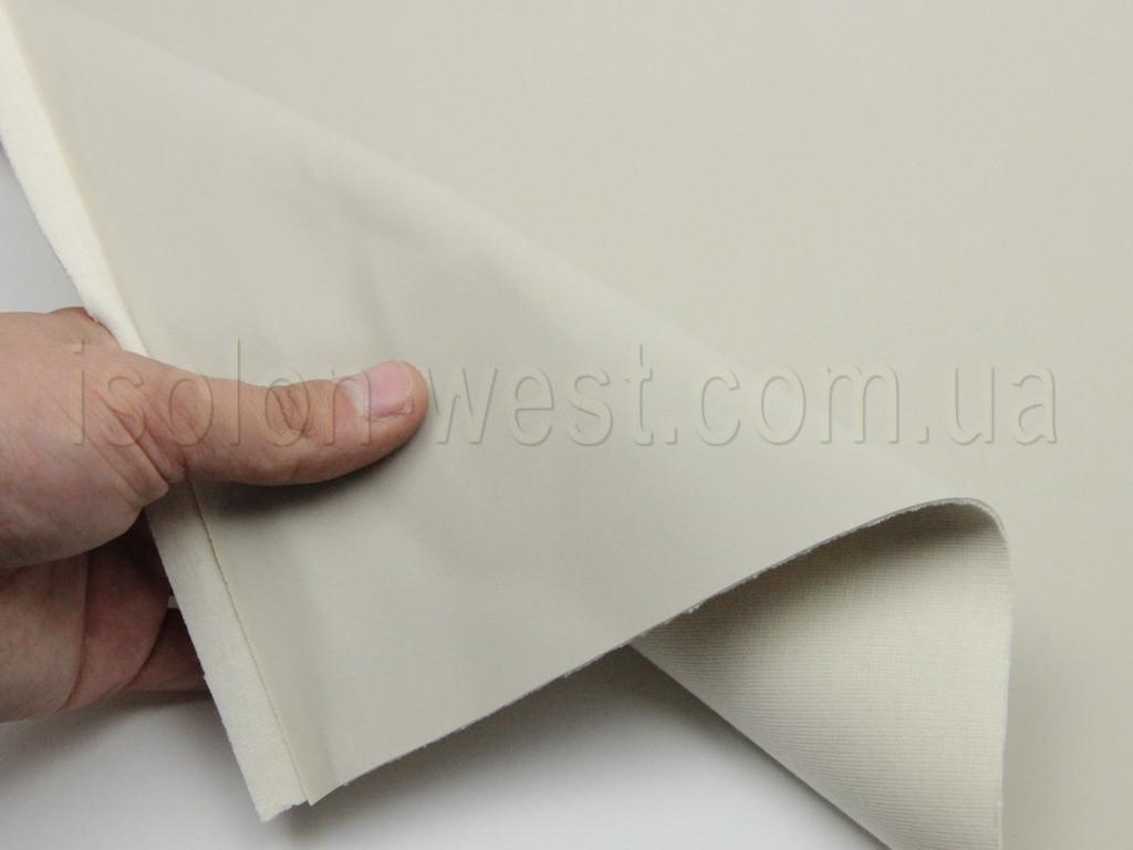Биэластик молочный гладкий (bl-6) для перетяжки дверных карт, стоек, airbag и вставок
