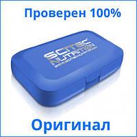 Аксессуары для фитнеса A_SN Пенал для таблеток SCITEC logo, голубой