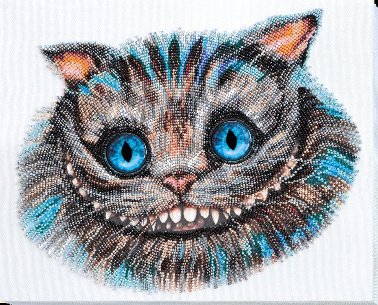 Наборы для вышивки бисером Чеширский Кот (27 х 32 см) Абрис Арт AB-687