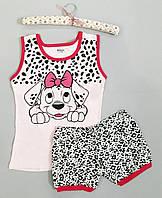 """Пижама женская хлопковая майка и шорты """"Mody"""" с рисунком"""