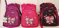 Рюкзак школьный Кошка 3D для девочек спинка ортопедическая на 3 отделения размер 45х35х25