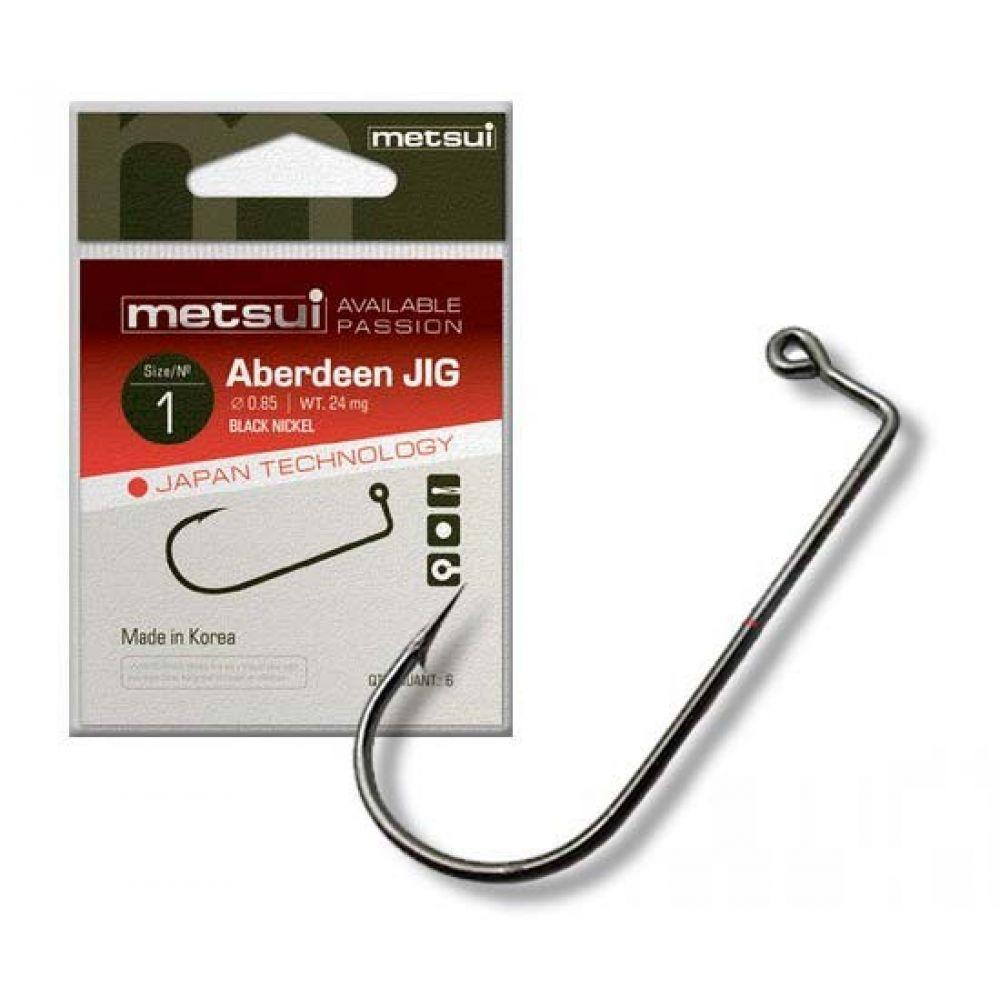 Крючки Metsui ABERDEEN JIG цвет bln, размер № 2/0, в уп. 6 шт. (8803720031024)
