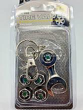 Колпачки на нипель с логотипом Skoda и брелком ключиком TIRE VALVES YX-088 логотип Шкода