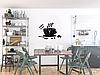 """Настінні годинники на кухню, 3D годинник для кухні або кав'ярні з дзеркальним ефектом - Coffee Time"""" (50 х 40 см), фото 5"""