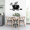 """Настінні годинники на кухню, 3D годинник для кухні або кав'ярні з дзеркальним ефектом - Coffee Time"""" (50 х 40 см), фото 3"""