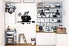 """Настінні годинники на кухню, 3D годинник для кухні або кав'ярні з дзеркальним ефектом - Coffee Time"""" (50 х 40 см), фото 6"""