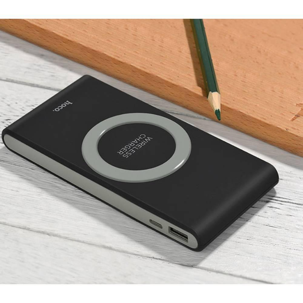 Портативная батарея с функцией беспроводной зарядки Power Bank Wireless Charger 8000mAh  QI Черный