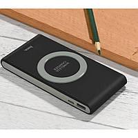 Портативная батарея с функцией беспроводной зарядки Power Bank Wireless Charger 8000mAh  QI Черный, фото 1