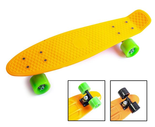 Penny Board. Помаранчевий колір. Матові колеса.