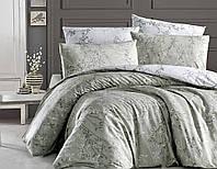 Комплект постельного белья Zena Yesil Ранфорс De Luxe First Сhoice Евро