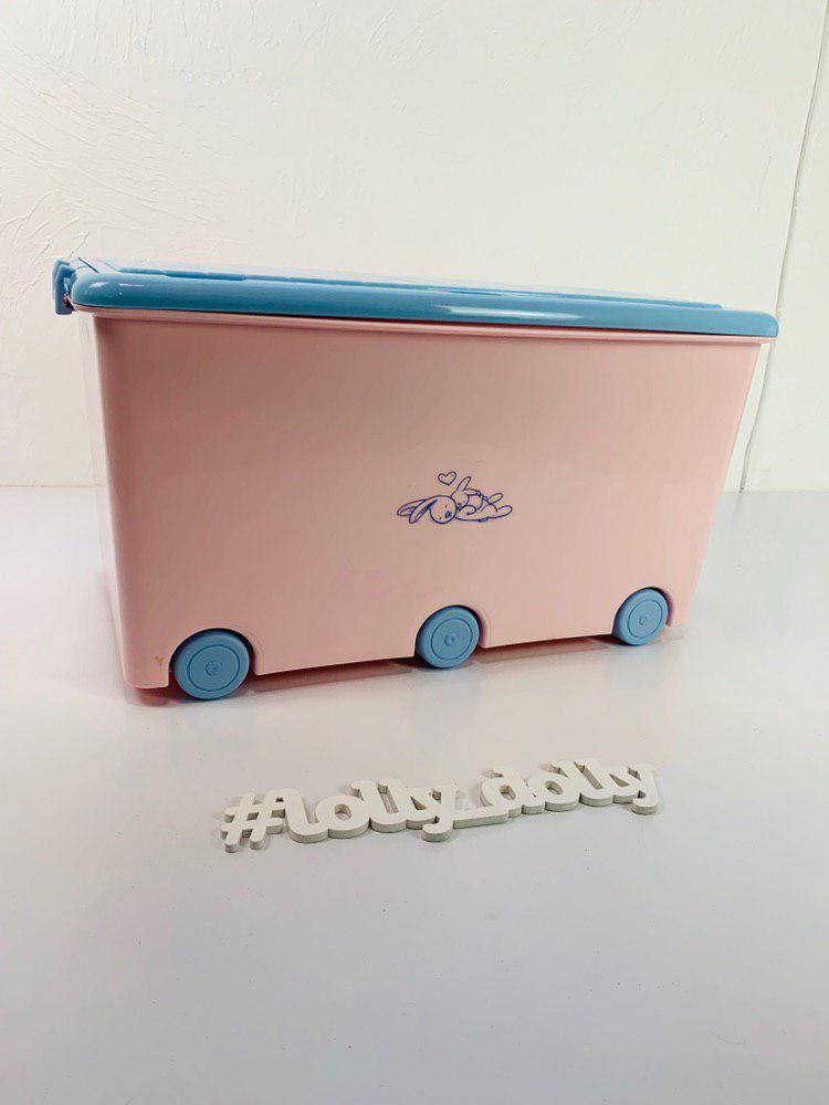 Скриня Тега для іграшок Tega Кролики Rabbits KR-010, pink