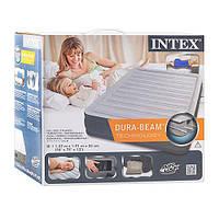 Надувной матрас-кровать Intex 67768 Велюр 137х191х33см