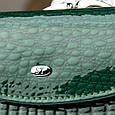 Кошелек женский, лаковый Sergio Torretti WS-11 dark-green, зеленый, фото 3