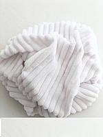 Плюшевый чехол на кушетку 76 см на 200 см - белый (шарпей), фото 1