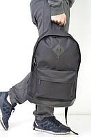 Рюкзак міський стильний шкіряне дно чорне без логотипу, колір чорний, фото 1