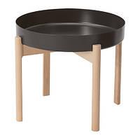 Журнальный стол IKEA YPPERLIG 50 х 40 см береза темно-серый (903.465.92)
