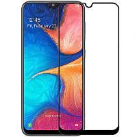 Защитное стекло Zifriend 5D Full Face (full glue) для Samsung Galaxy A20 / A30 / A50 (без сканнера) (Черный)