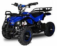 Квадроцикл с металлическим корпусом Profi HB-EATV 800N-4 синий с музыкой. USB. Разные цвета.