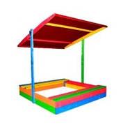 Детская деревянная песочница с крышей ЭКО ( пісочниця ЕКО )150*154