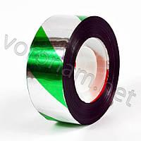 Лента светоотражающая зелено-белая