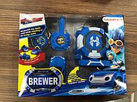 Детская игрушка Часы-запускалка Лига вочкар, watchcar, вотчкар синие
