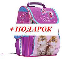 Ранец каркасный школьный ортопедический CLASS  Lovely Kitties 9801 ж