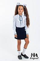 Блузка детская для девочек белая