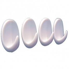 Крючки набор 4 шт. для ванной на липучке, пластик