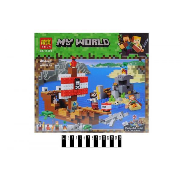 """Конструктор Bela Майнкрафт """"Приключения на пиратском корабле"""" 404дет. 11170 р.30*28*8см."""