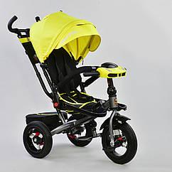 Детский трехколесный велосипед Best Trike 6088 F – 1340 с надувными колесами и поворотным сиденьем, желтый