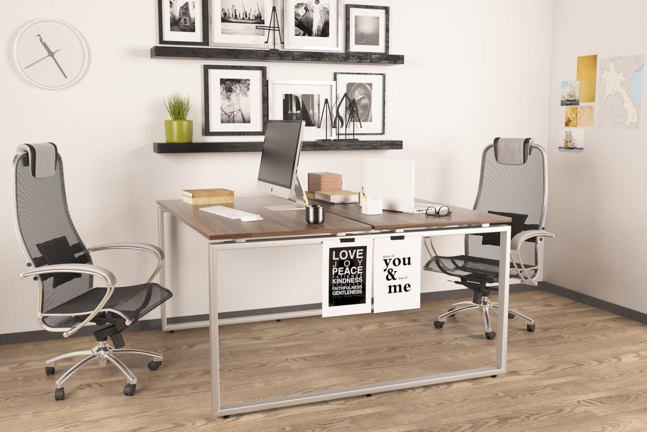 Двойной стол Q-140 Loftdesign офисный письменный
