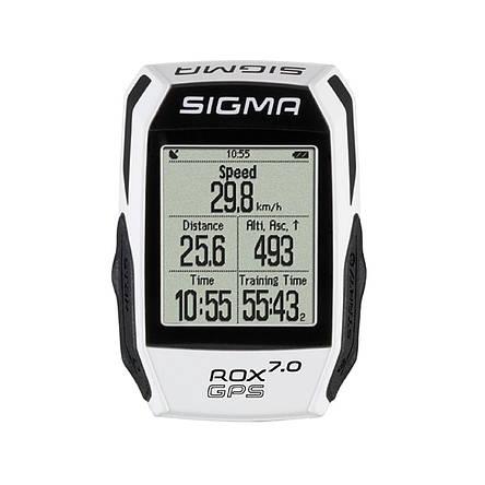 Велокомп'ютер бездротовий Sigma Sport ROX 7.0 GPS White, фото 2