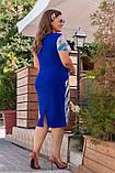Модное женское летнее платье,ткань масло принт,размеры:52,54,56,58., фото 5