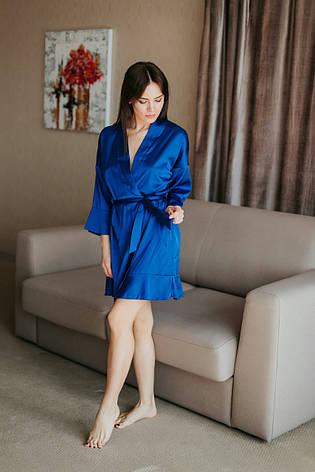 Яскравий жіночий халатик з поясом, фото 2