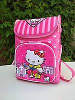 Рюкзак школьный для девочек каркасный Hello Kitty, спинка ортопедическая размер 37х25х20