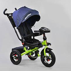 Детский велосипед трехколесный с родительской ручкой и поворотным сиденьем Best Trike 6088 F –1780, синий