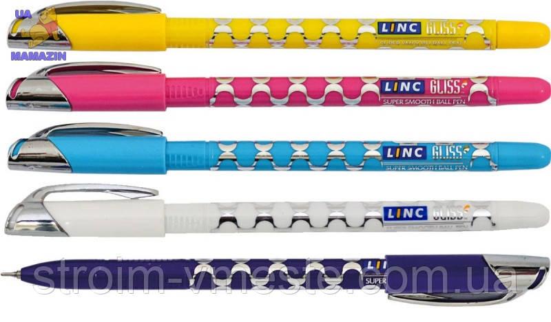 Ручка шар/мас «Gliss» черная LINC ( корпус цветной)