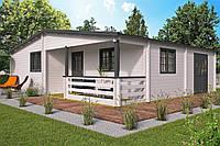 Дом деревянный из профилированного бруса 9.4х8.5