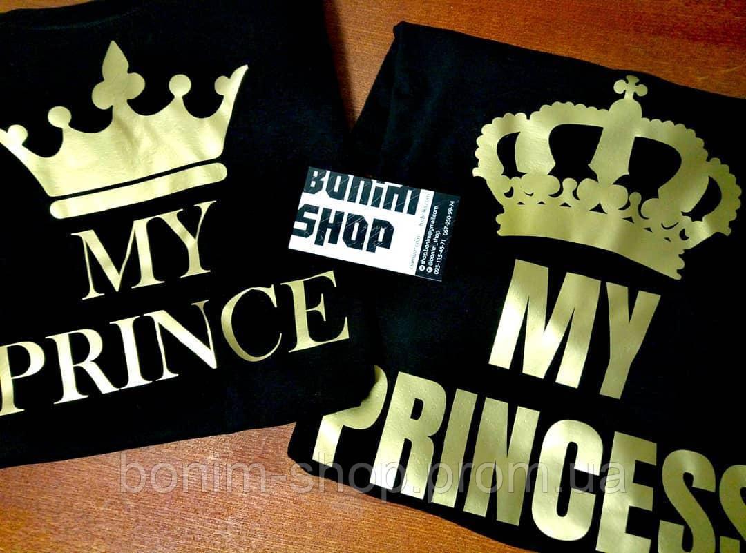 Парные черные свитшоты Мy prince & My princess