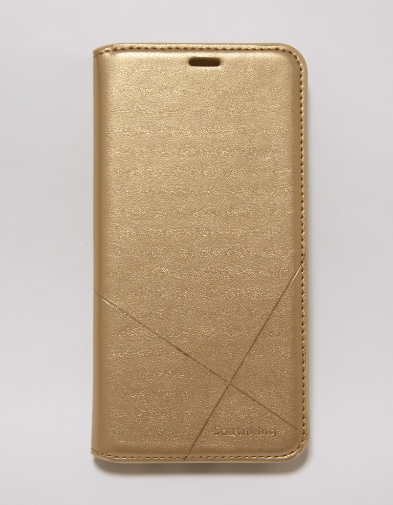 Чехол-книжка для смартфона Meizu M6 Note золотая MKA