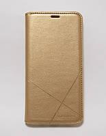 Чехол-книжка для смартфона Meizu M6 Note золотая MKA, фото 1